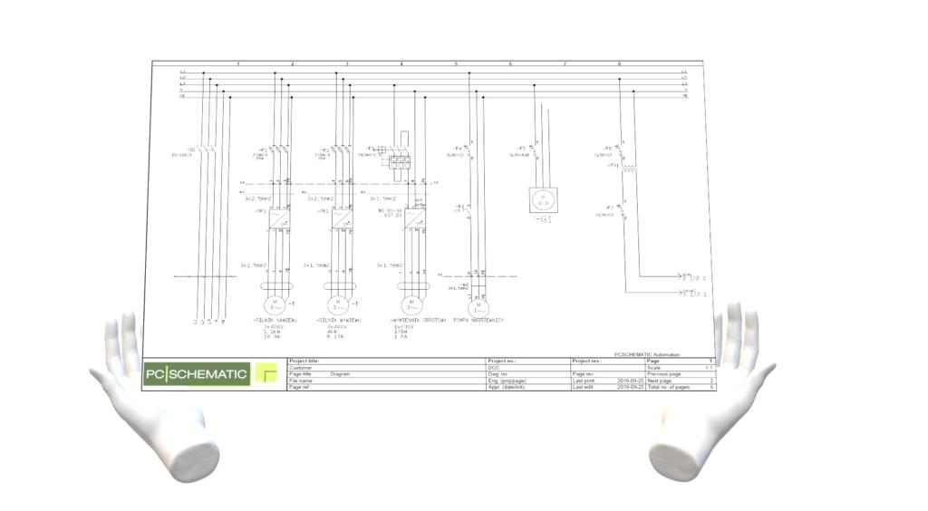PC SCHEMATIC projekt elektryczny automatyki sterowania