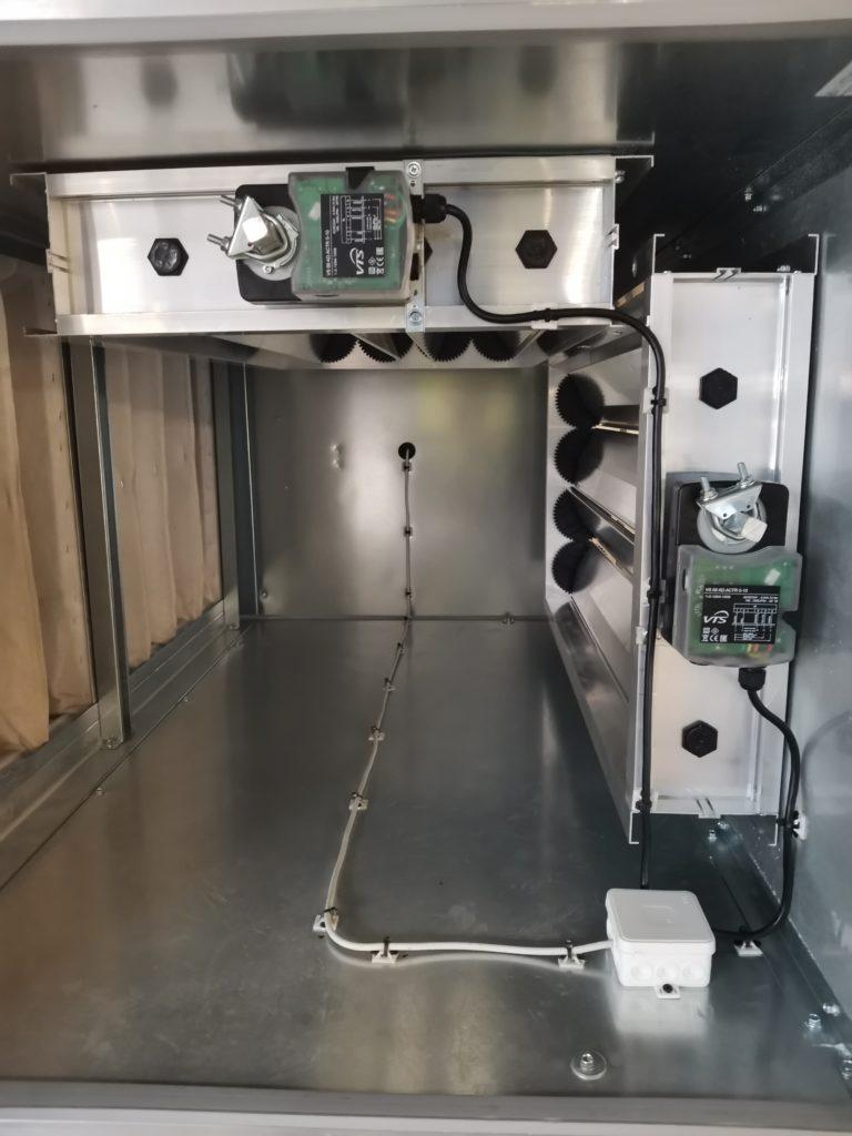 Siłowniki komory mieszania. Przepustnice przeciwbieżne. Automatyka HVAC