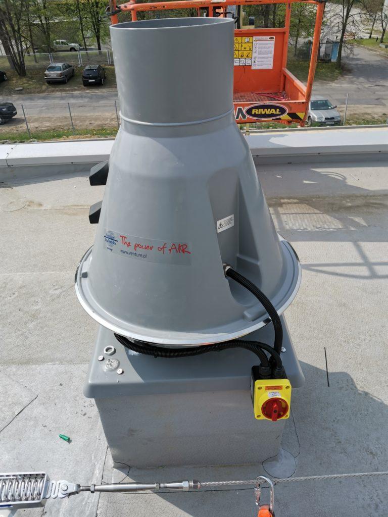 wentylator EX. Podłączenie wyłącznika serwisowego. Automatyka HVAC