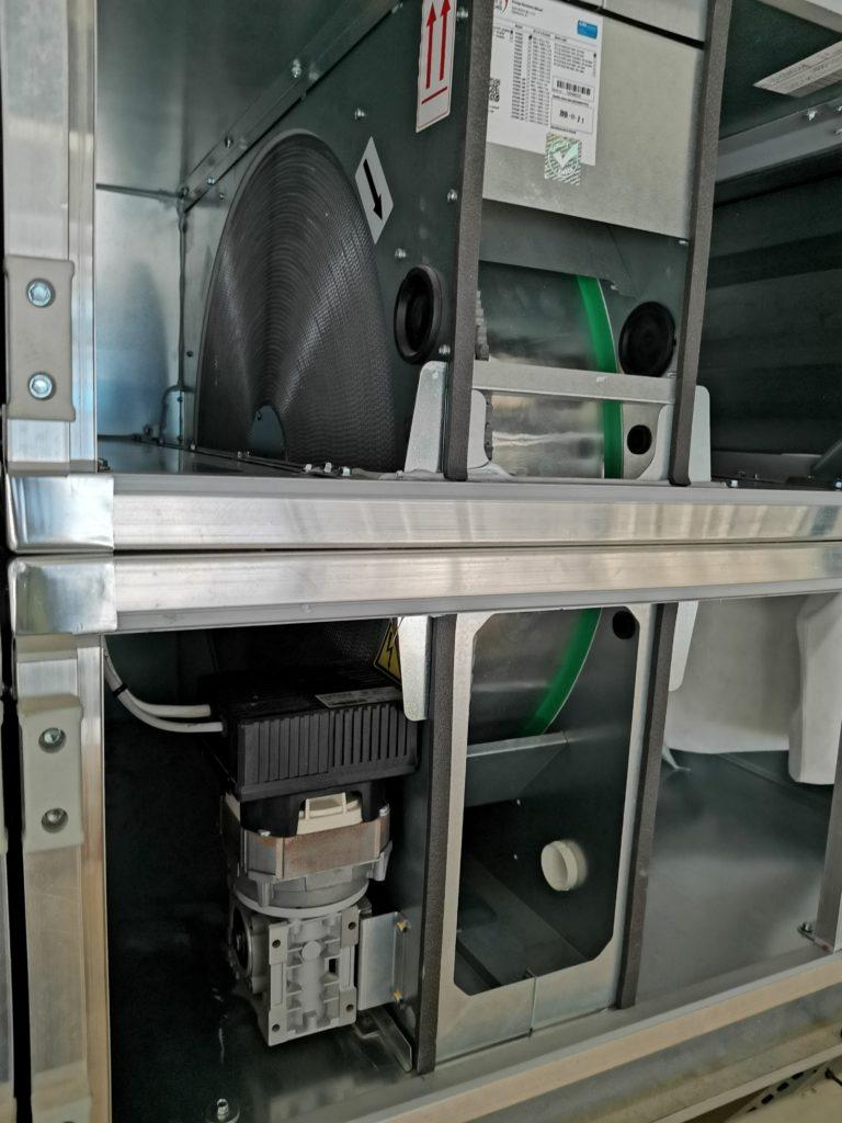 Wymiennik obrotowy w centrali wentylacyjnej VTS. Automatyka HVAC