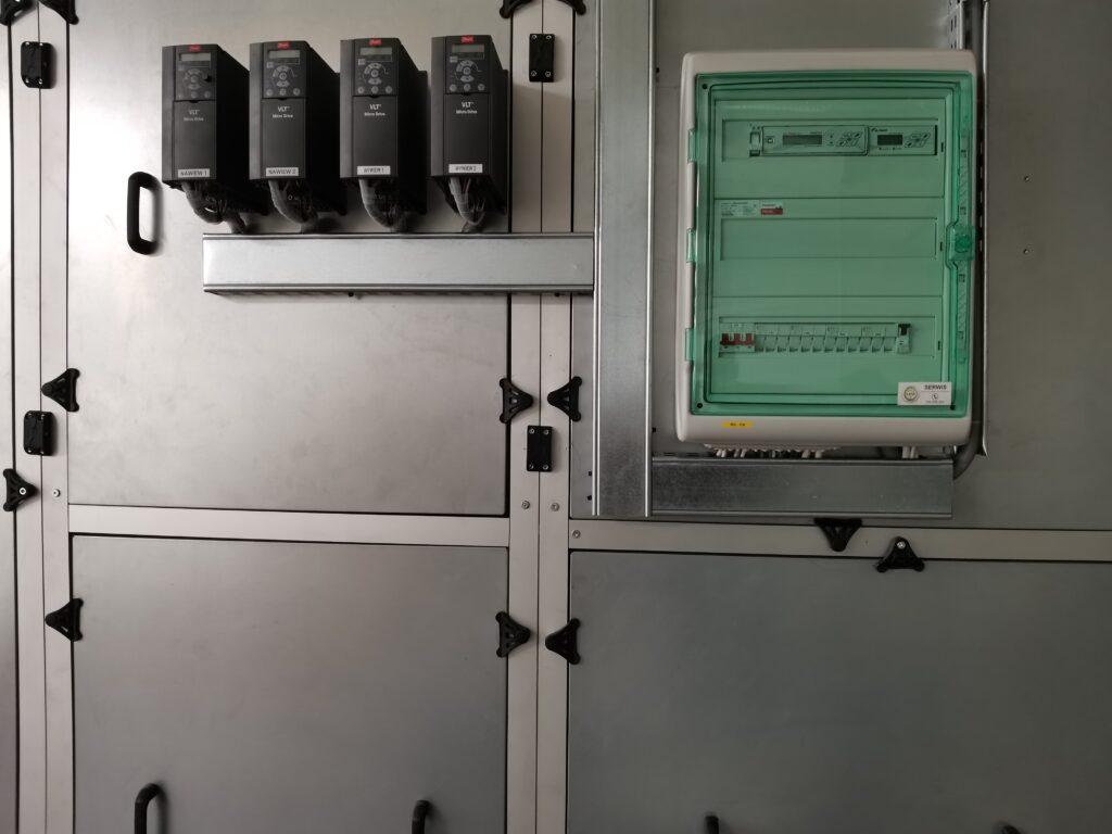 sterowanie centrali wentylacyjnej KLIMOR