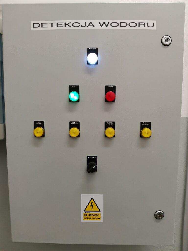 System detekcji wodoru wizualizacja progów detekcji
