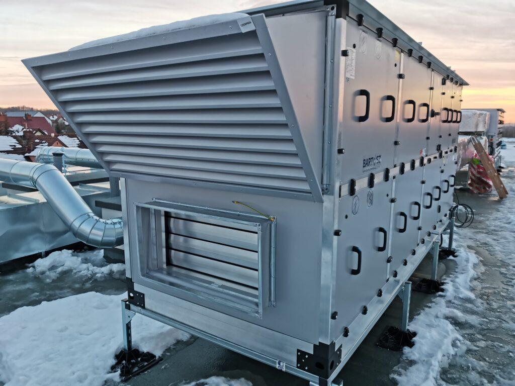 Uruchomienie centrali wentylacyjnej firmy Bartosz Automatyka HVAC